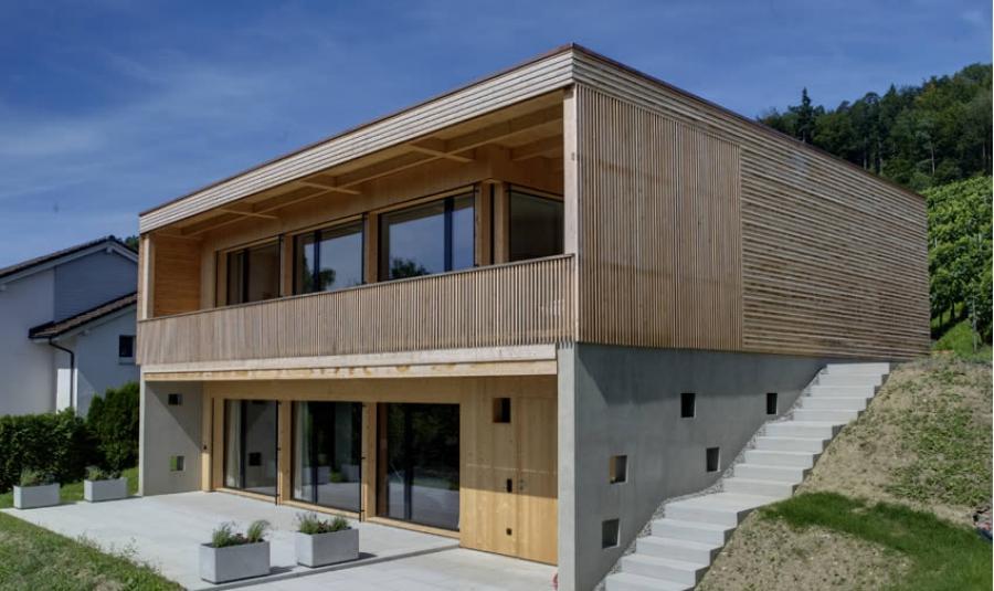 isofloc  Einfamilienhaus Minergie-P-Eco
